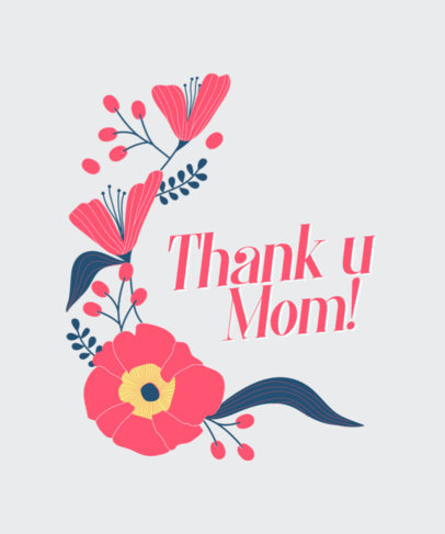 Thankful T-Shirt Design Generator for Mother's Day 3477i