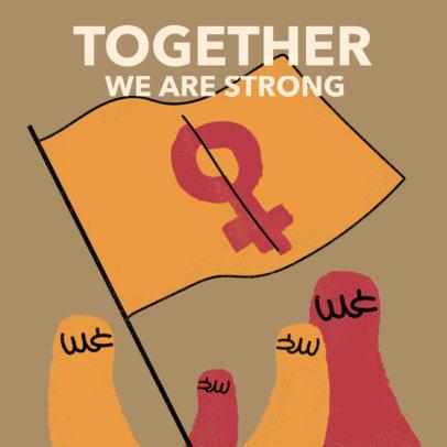 Feminist Instagram Post Generator for Women's Day 3486b