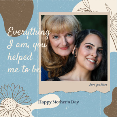 Instagram Post Maker with a Heartfelt Mother's Day Message 3479a