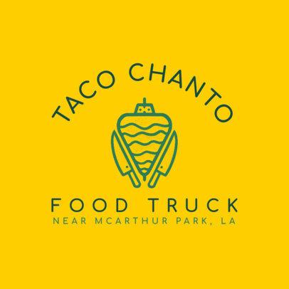Minimalistic Logo Maker for a Taco Food Truck 1213a-4138