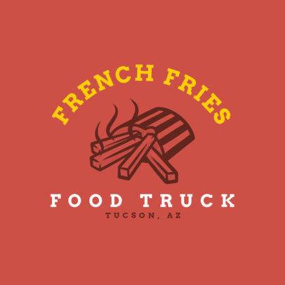Logo Creator for a Food Truck with a Graphic of French Fries 1213h-4138