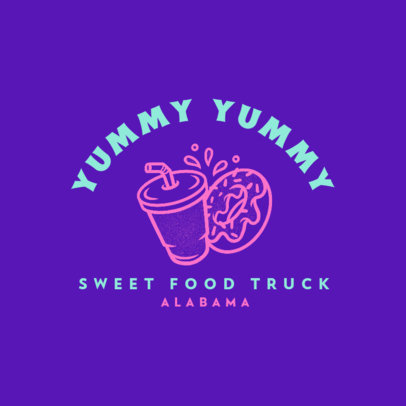 Minimalistic Logo Creator for a Desserts Food Truck 1213m-4138