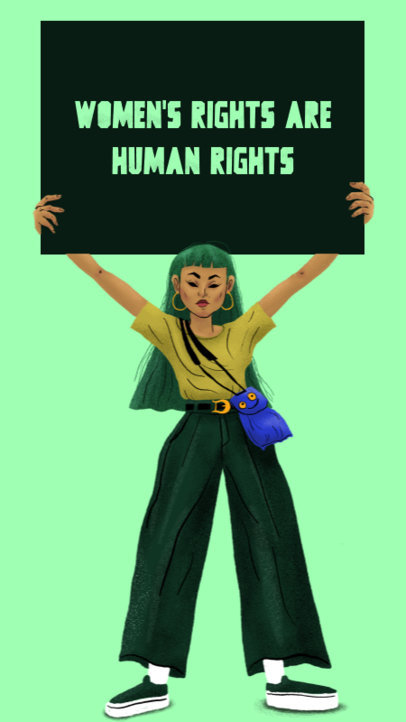Instagram Story Generator with a Quote About Women's Rights 3488d