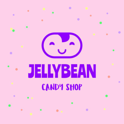 Cute Logo Template Featuring a Cute Aesthetic for a Candy Shop 1389d-4136