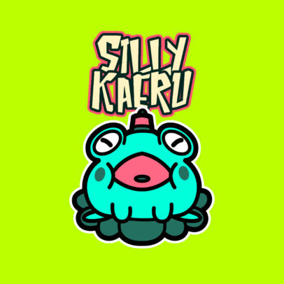 Logo Maker for a Young Streamer Featuring a Chubby Kawaii Character 4146i