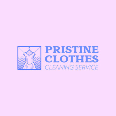 Logo Generator for a Cleaning Service Featuring a Dress Graphic 4134a