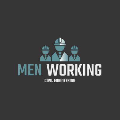 Civil Engineer Logo Maker with a Team-Themed Graphic 1211a-4137