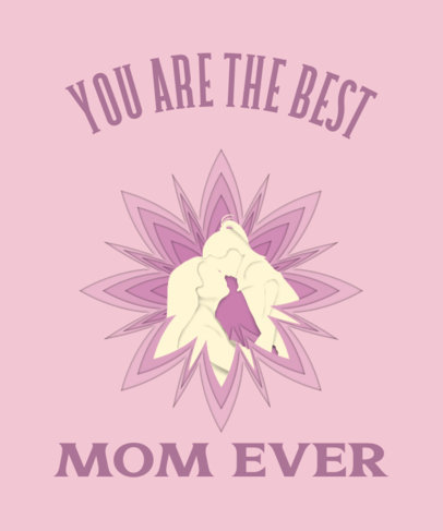 Quote T-Shirt Design Maker with a Mothers Day Illustration 3478a