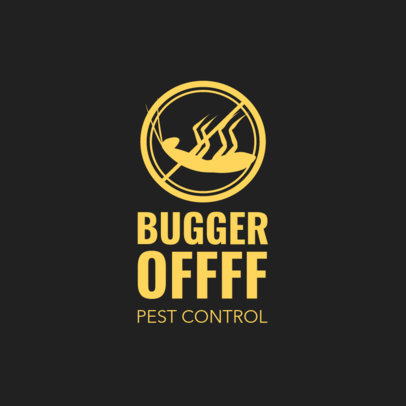 Pest Control Logo Template Featuring a Bug Graphic 1254c 4139