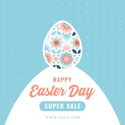 Instagram Post Maker Featuring Illustrated Easter Graphics 3691-el1
