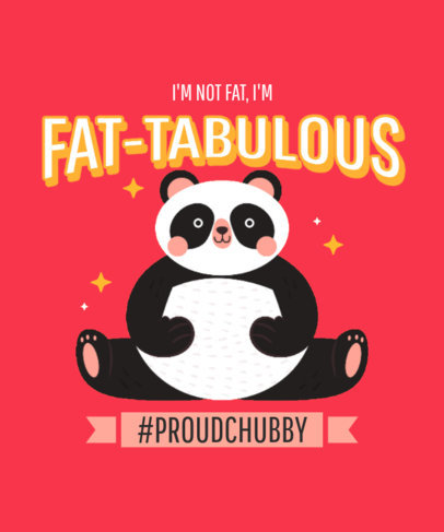 T-Shirt Design Creator Featuring a Body-Positive Panda 3495c