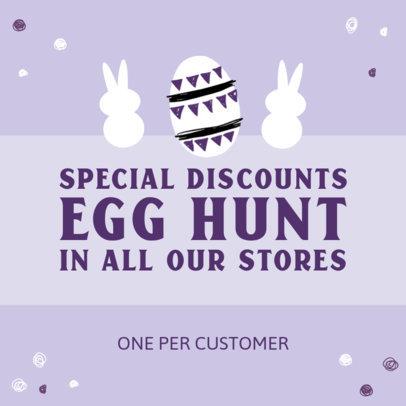Instagram Post Generator for an Easter-Themed Promo 3689e-el1