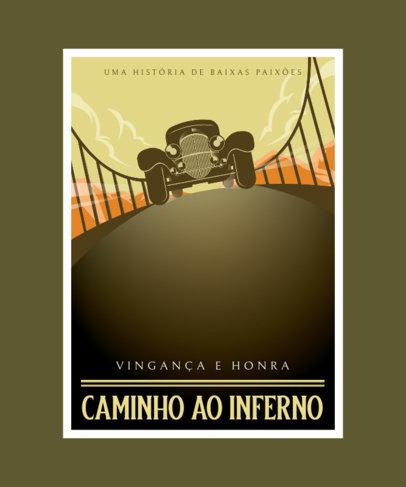T-Shirt Design Maker with an Art Deco Illustration and Portuguese Text 3683a-el1