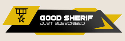 Gaming Twitch Alert Box Template for a New Subscription Alert 3701b-el1