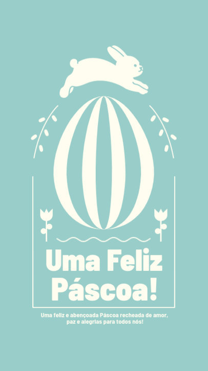 Portuguese Easter Instagram Story Template with a Minimalistic Style 3693c-el1