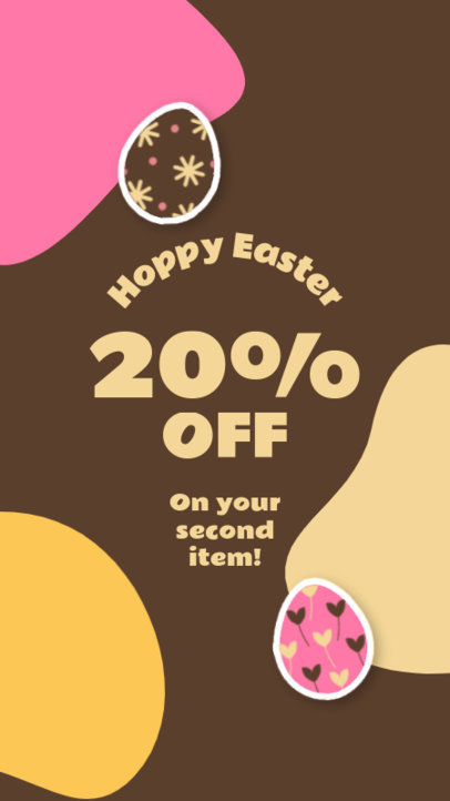Easter-Themed Instagram Story Maker for a Special Discount Announcement 3687a-el1