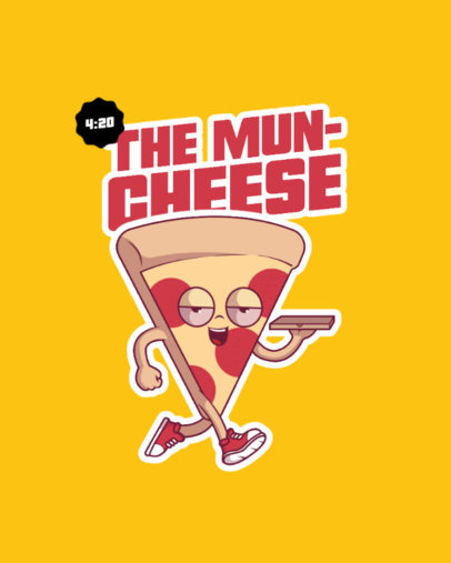 T-Shirt Design Creator Featuring a Slice of Pizza with the Munchies 3675e-el1