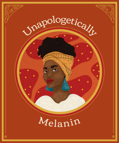 T-Shirt Design Generator for an Unapologetic Black Woman 2801j 3502