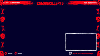 Twitch Overlay Maker Featuring Skull Graphics 3490c