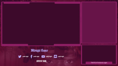 Horror Twitch Overlay Design Maker for Gaming Streamers 3493d