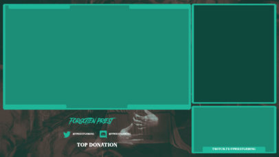 Twitch Overlay Design Generator Featuring a Horror Theme and a Webcam Frame 3493b