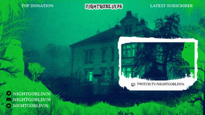 Haunted Twitch Overlay Design Creator  3492b
