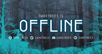 Twitch Offline Banner Maker Featuring a Creepy Forest Background 3492a