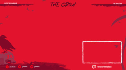 Twitch Overlay Template Featuring Spooky Crow Graphics 3490f