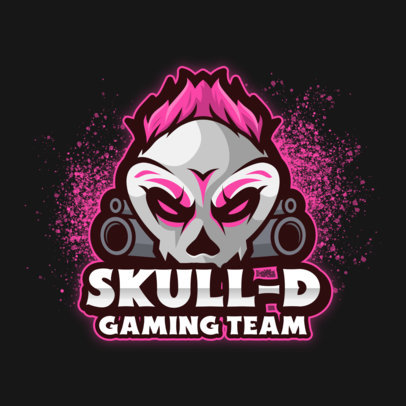 Gaming Logo Maker with Simple Graphics of Edgy Characters 3711-el1