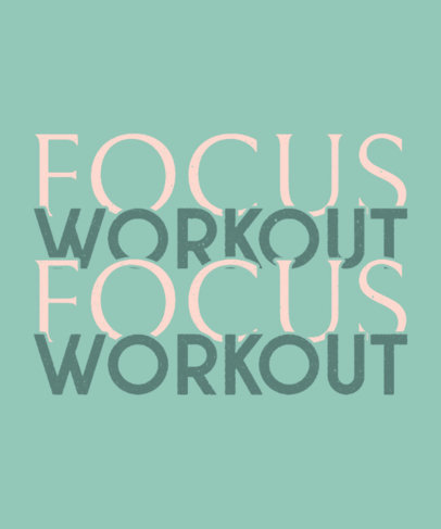 Fitness-Themed T-Shirt Design Template Featuring Quotes 3512h