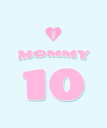 Colorful T-Shirt Design Creator for Mothers Day with a Heart Icon 3314e