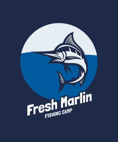 T-Shirt Design Generator Featuring a Marlin Illustration 3667b-el1