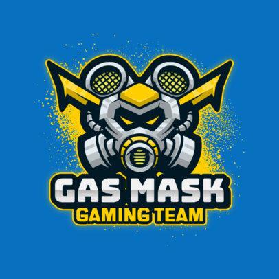 Gaming Logo Creator with a Cartoonish Gas-Mask Graphic 3711a-el1