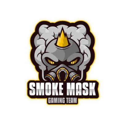 Logo Maker for a Gaming Team with a Smoke Mask Graphic 3711c-el1
