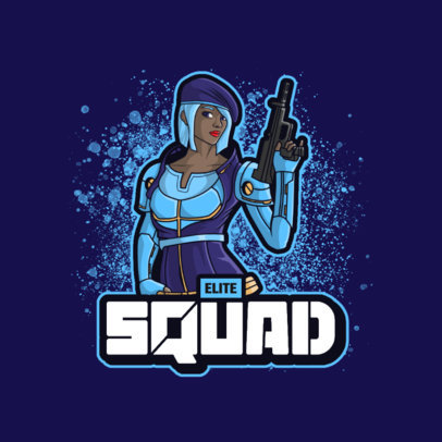 Logo Generator with a Shooters Theme and an Illustration of a Cool Woman 3707g-el1