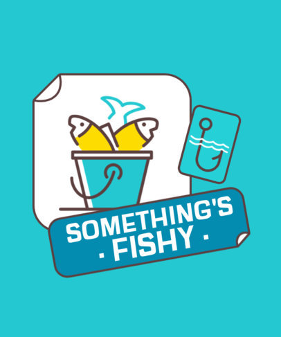Fishing-Themed T-Shirt Design Creator with a Minimal Icon 3673b-el1