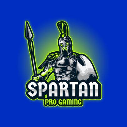 Gaming Logo Generator Featuring a Spartan Soldier Clipart 3713c-el1