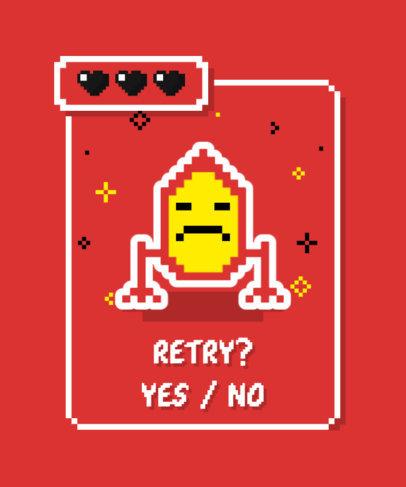 Pixel-Art T-Shirt Design Maker Featuring a Game-Over Screen 3717e-el1