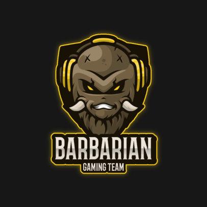 Gaming Logo Maker with a Barbarian-Themed Emblem 3711g-el1