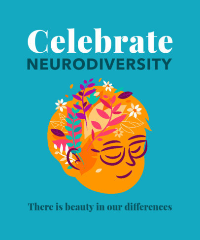 Illustrated T-Shirt Design Creator Celebrating Our Differences 3522b