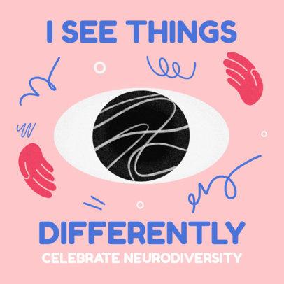 Illustrated Instagram Post Maker Celebrating Neurodiversity 3526f