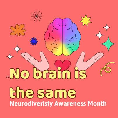 Instagram Post Maker to Commemorate Neurodiversity Awareness Month 3527e