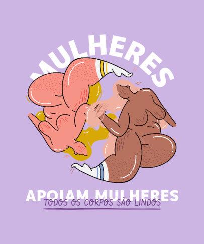 Feminist T-Shirt Design Creator with a Body-Positive Theme 3520d