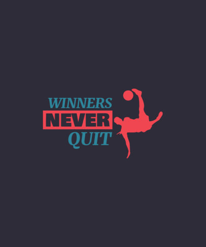 T-Shirt Design Maker Featuring a Quote for Fervent Soccer Players 3511g