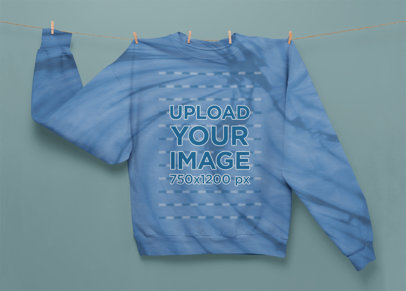 Sublimated Sweatshirt Mockup Featuring a Tie Dye Texture m4129