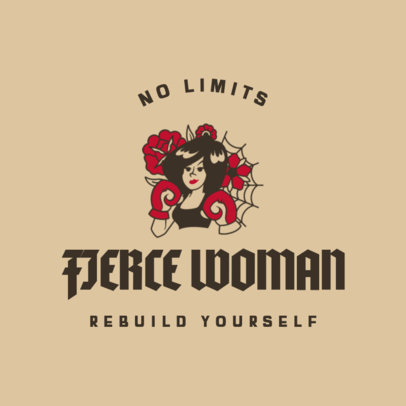 Simple T-Shirt Design Template for a Feminist Tee 4176