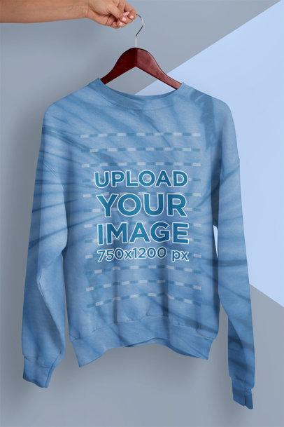 Sweatshirt Mockup Featuring a Tie-Dye Effect m4128