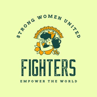 Retro T-Shirt Design Maker Featuring a Strong Woman 4176b