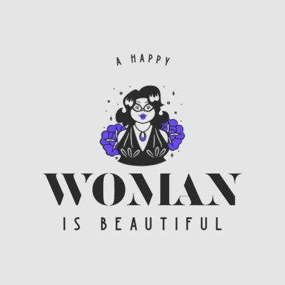 Retro T-Shirt Design Creator with a Positive Quote for Women 4176e
