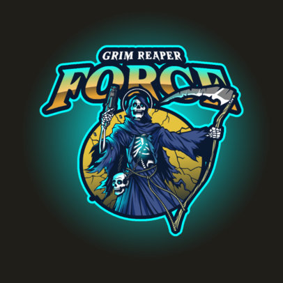 Logo Creator for a Grim Reaper-Themed Gaming Team 4189k